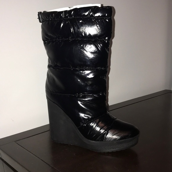 Coach Farran Quilted Winter Boot Wedges